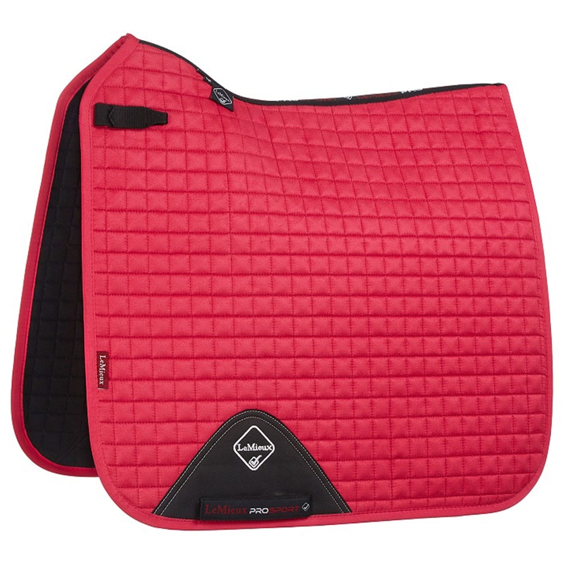 LeMieux Suede Fuchsia Square Dressage Saddle Pad
