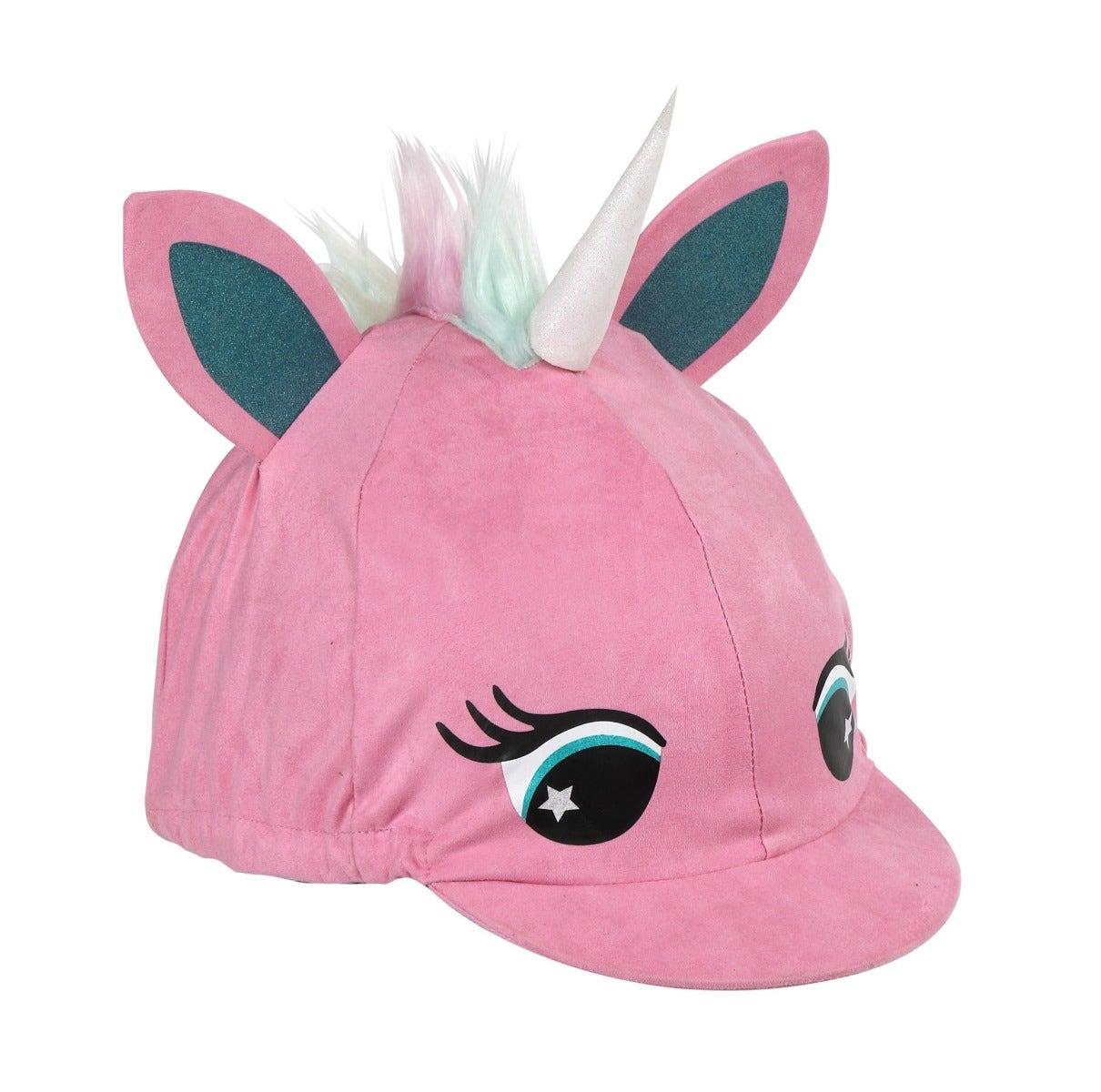 Shires Pink Unicorn Hat Silk