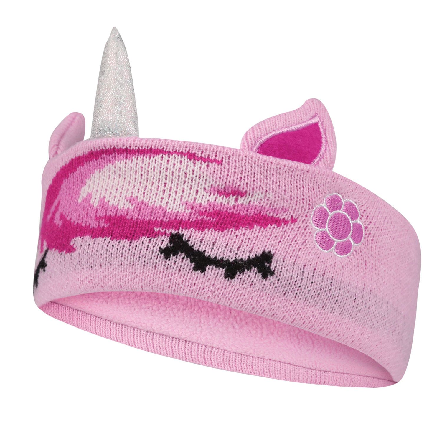 Equetech Sleepy Childs Unicorn Knit Pink Headband