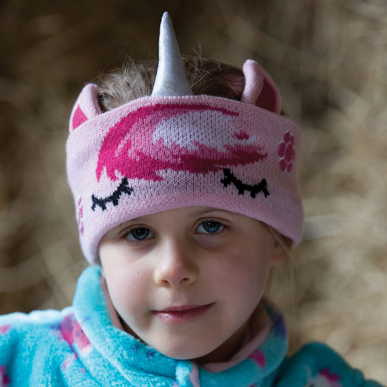 Equetech Sleepy Childs Unicorn Knit Pink Headband