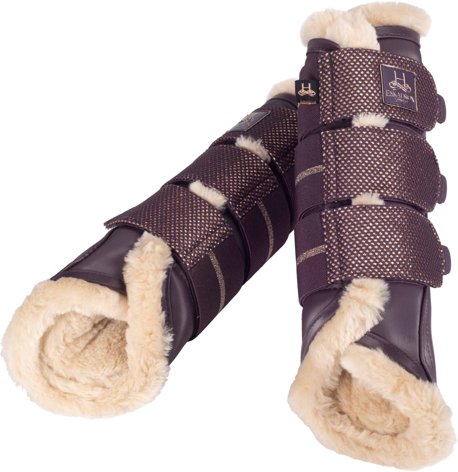 Eskadron Fauxfur Softslate Tendon Boots Purple