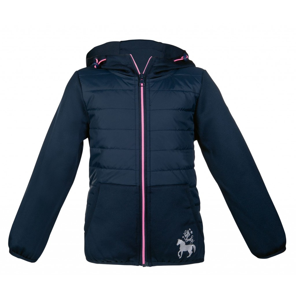 Funny Horses Childs Quilted Softshell Jacket
