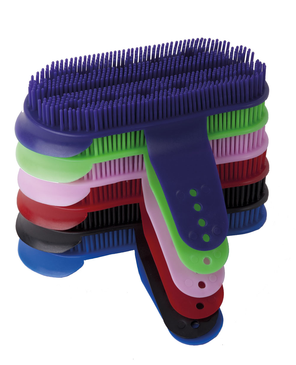 Harlequin Plastic Grooming Curry Comb