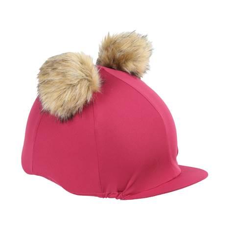 Shires Double Pom Pom Hat Silk