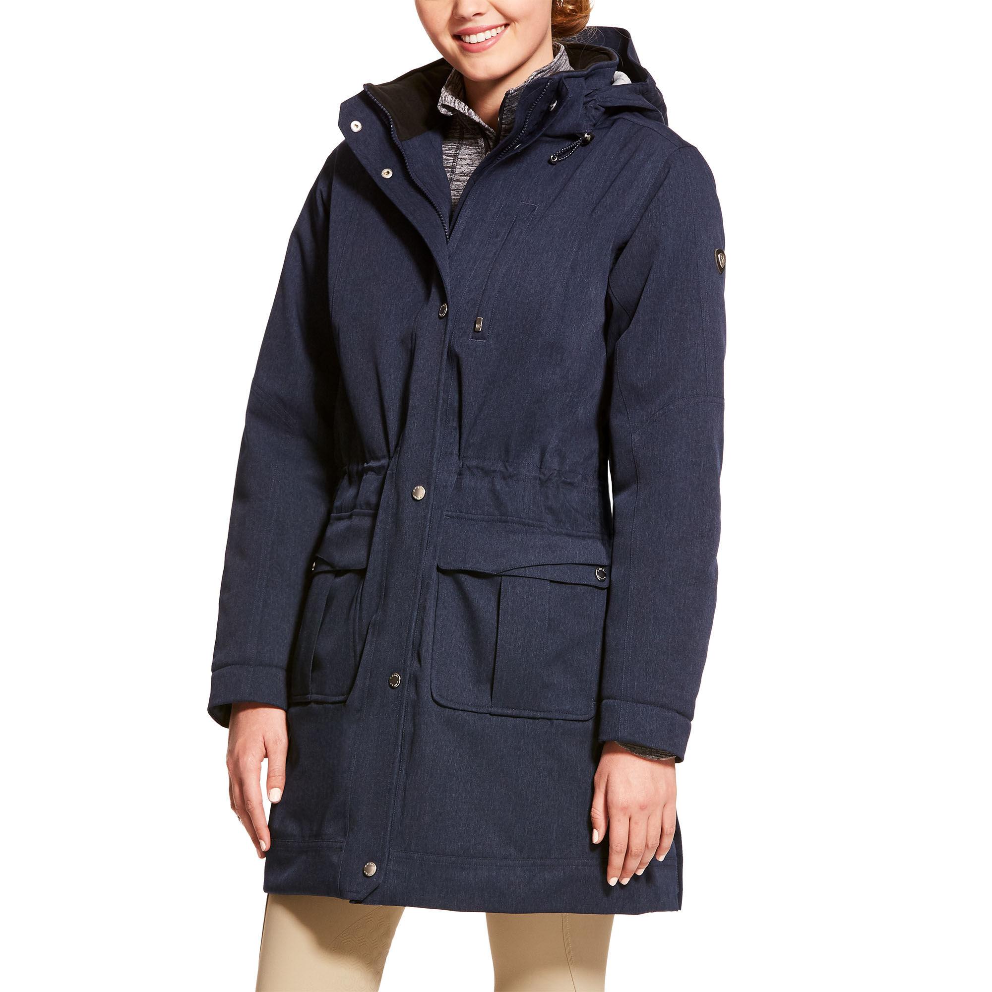 Ariat Madden Waterproof Parka Coat Navy
