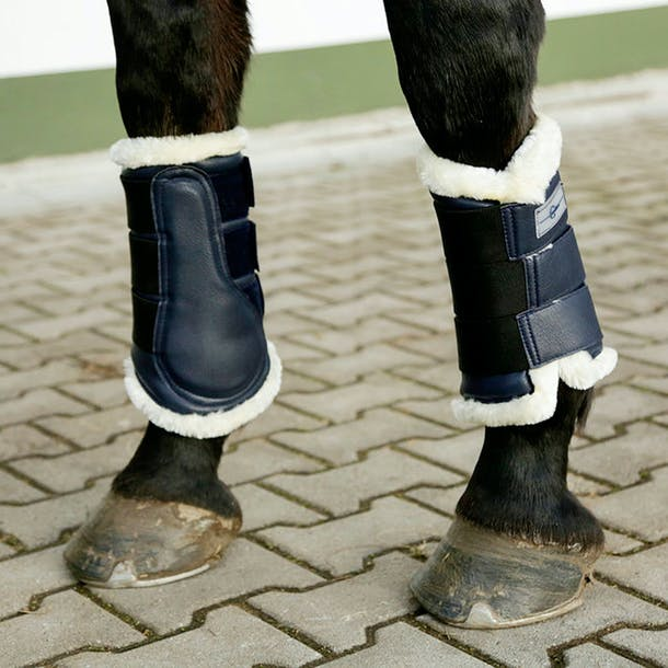 Covalliero Navy Soft Brushing Boots
