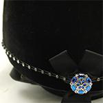 Karoo Equine Saphire Centre Swarovski Diamante Elastic Hat Band