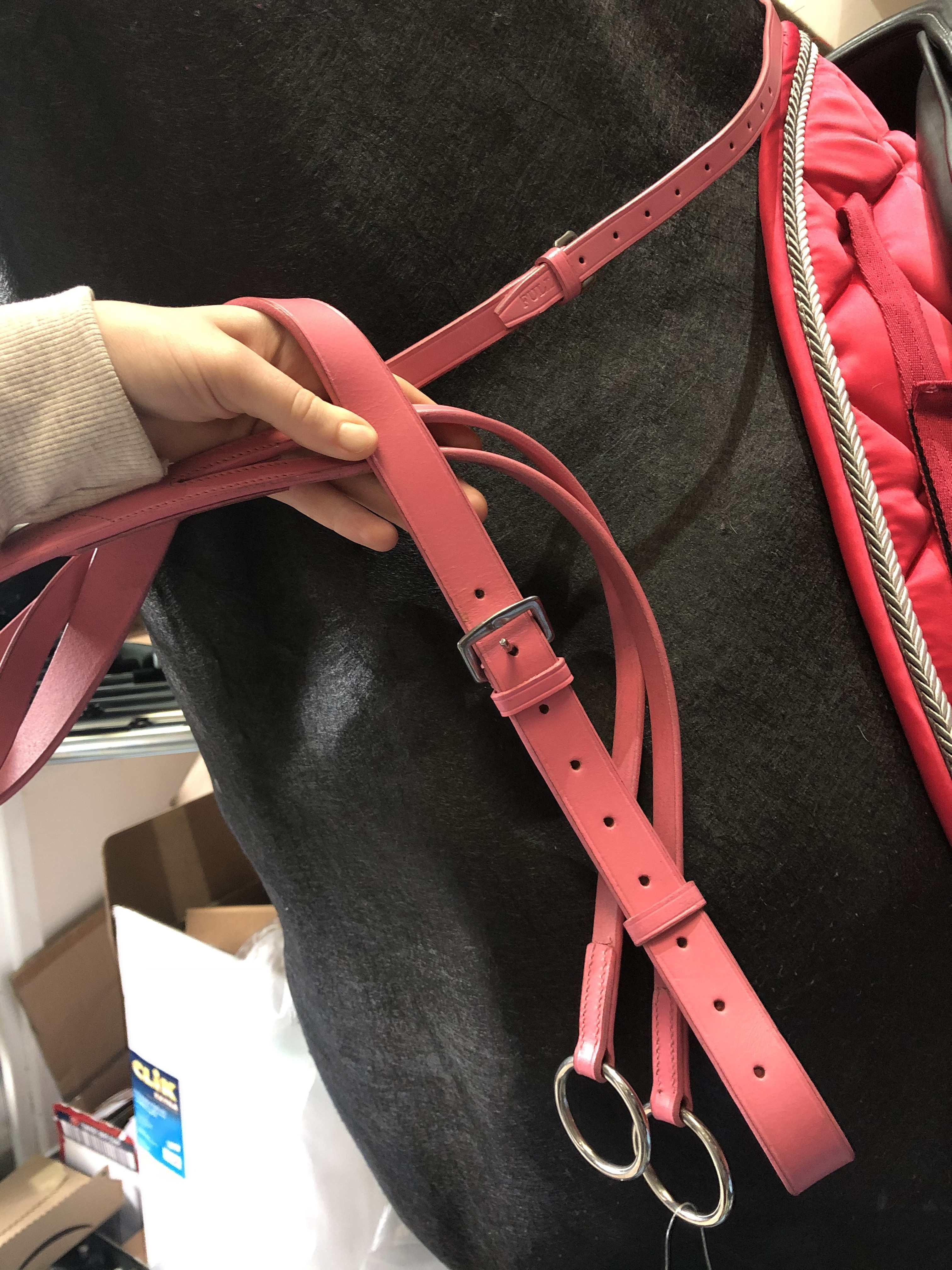 Shires Pink Running Martingale