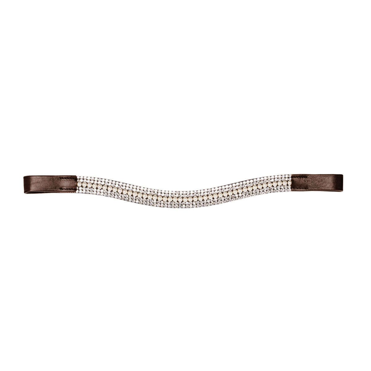 Caldene Curved 5 Row Diamante & Pearl Browband Havana