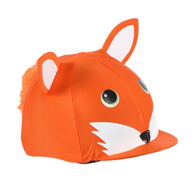 Shires Fox Animal Hat Silks