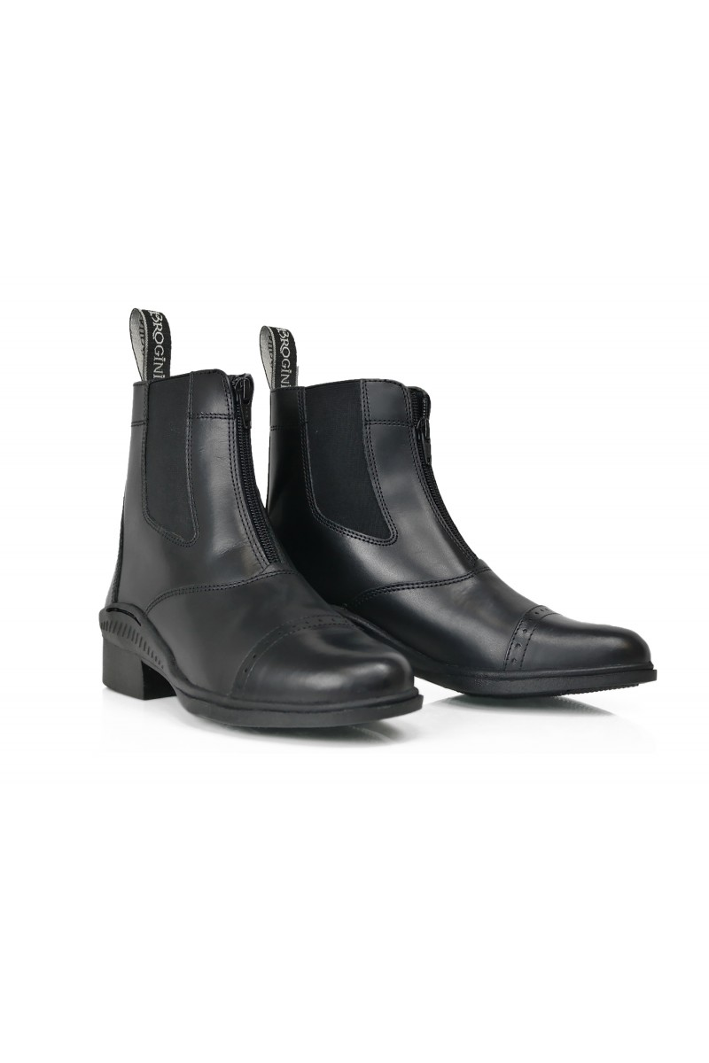 Brogini Trivoli Zip Jodphur Riding Boots Black