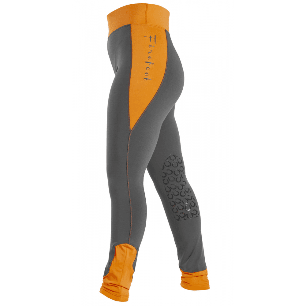 Firefoot Childs Horseshoe Print Orange Breeches