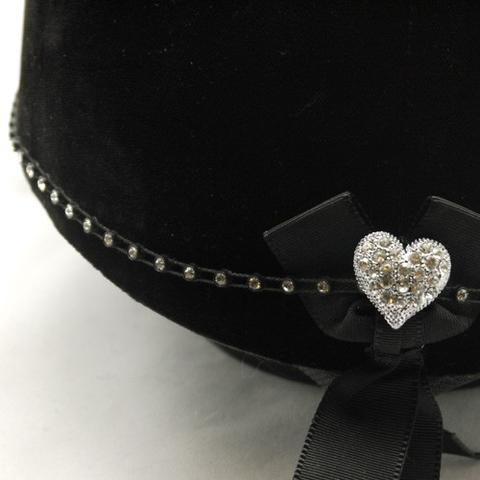 Karoo Equine Heart Center Swarovski Diamante Elastic Hat Band
