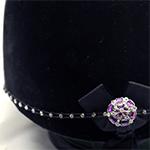 Karoo Equine Amethyst Center Swarovski Diamante Elastic Hat Band