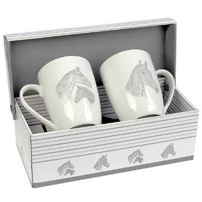 Jenkinsons Becher Mug Tasse Mare & Foals Gift Set
