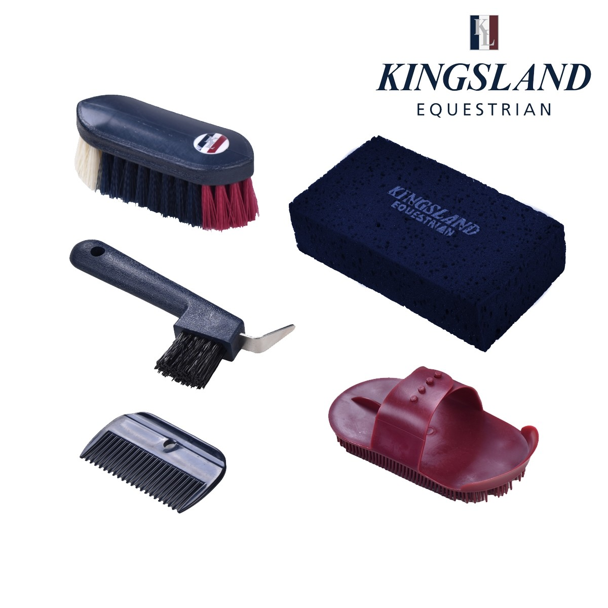 Kingsland Alden Rucksack Grooming Brush Set