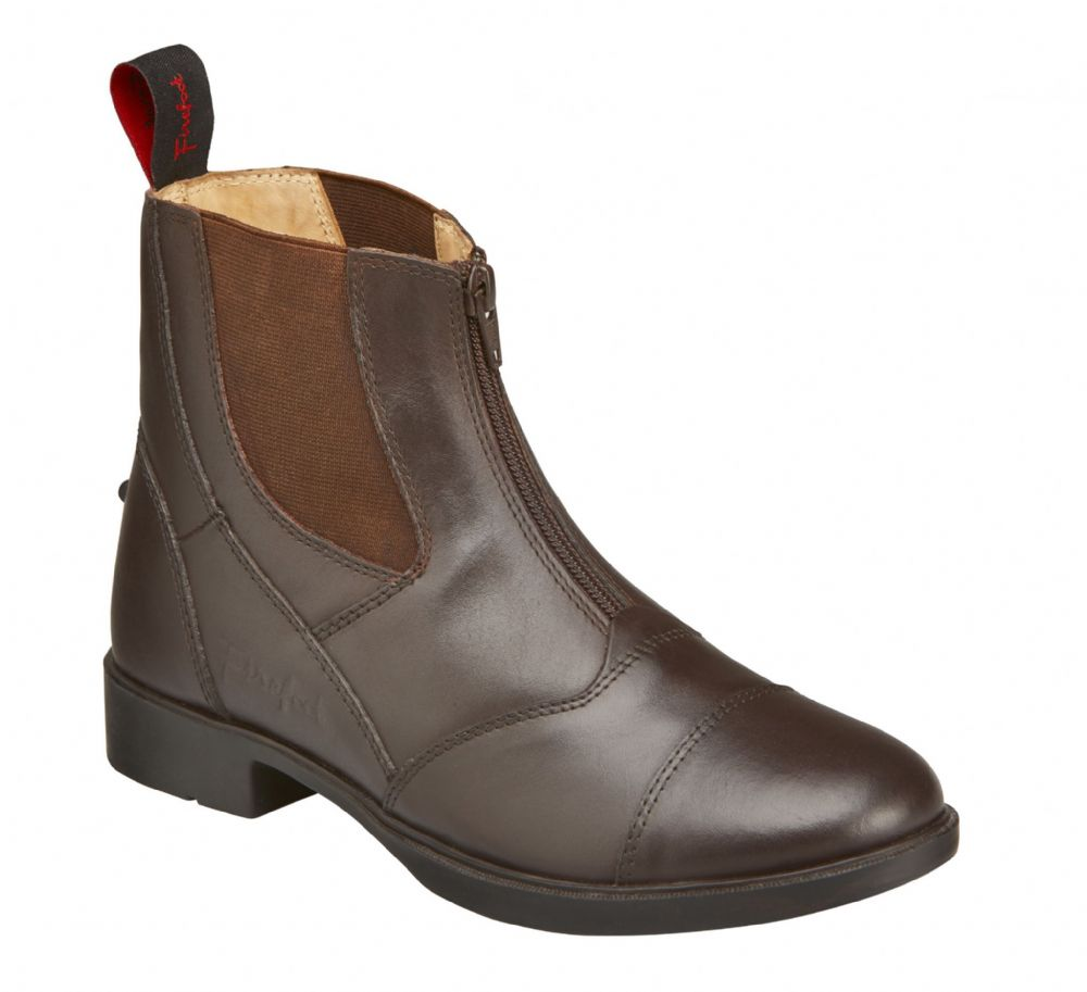 Firefoot Brown Leather Zip Riding Boots