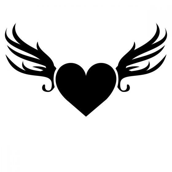Glamourati Heart Wing Stencil