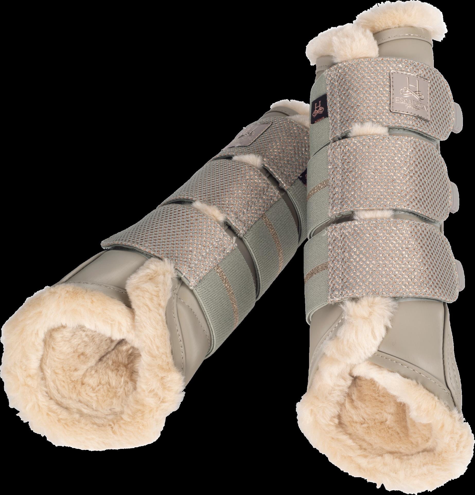 Eskadron Fauxfur Softslate Tendon Boots Cream