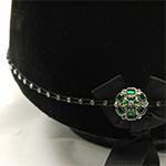 Karoo Equine Emerald Centre Swarovski Diamante Elastic Hat Band
