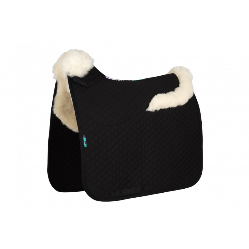 Nuumed HiWither Front & Black Fluffy Collars  Dressage Saddle Cloths
