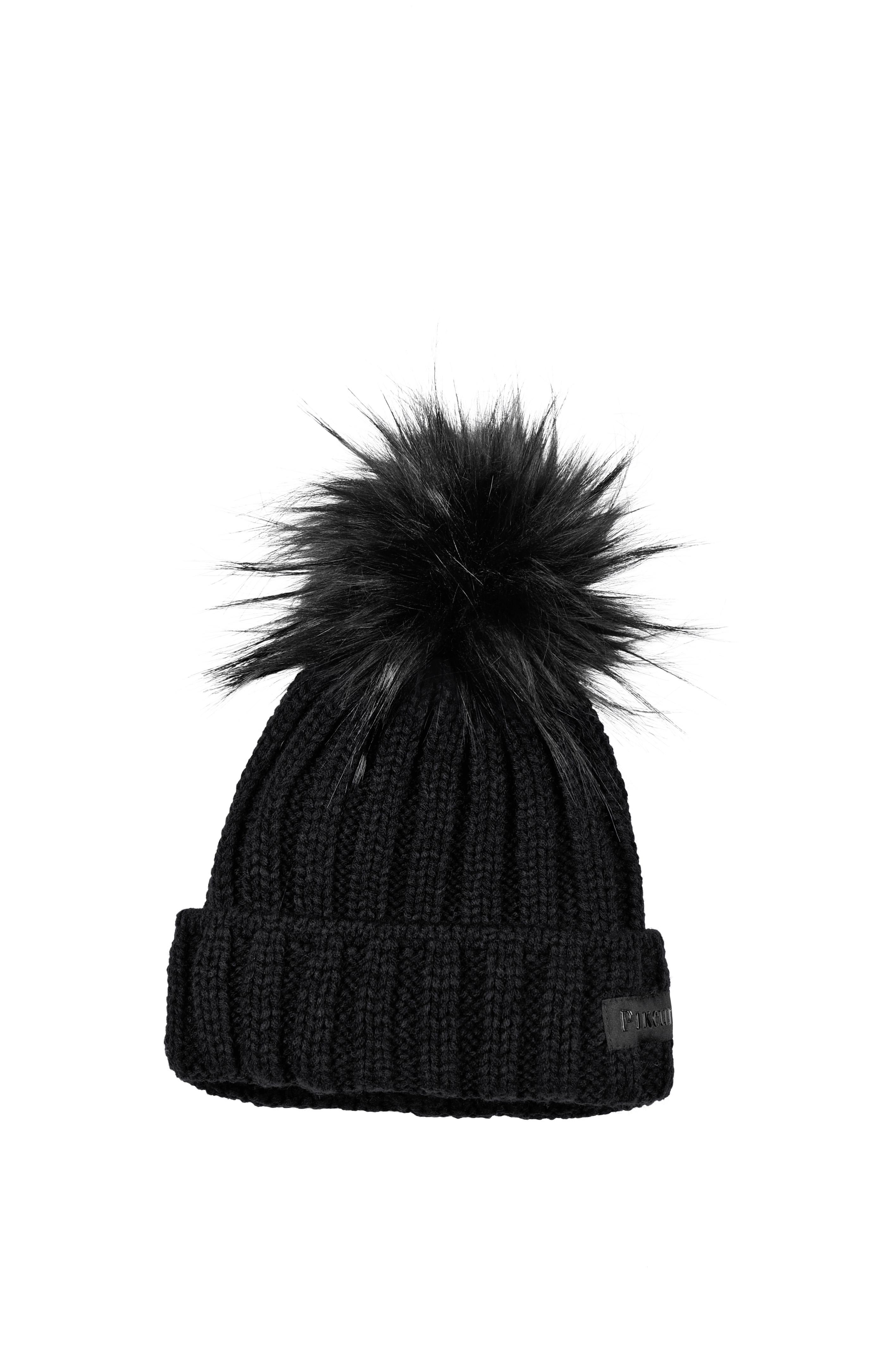Pikeur Mutze NG New Generation Black Bobble Hat