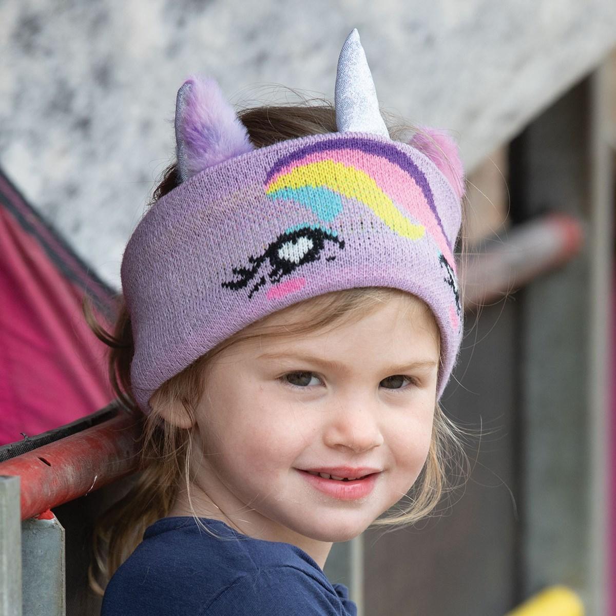 Equetech Twilight Childs Unicorn Knit Lilac Headband