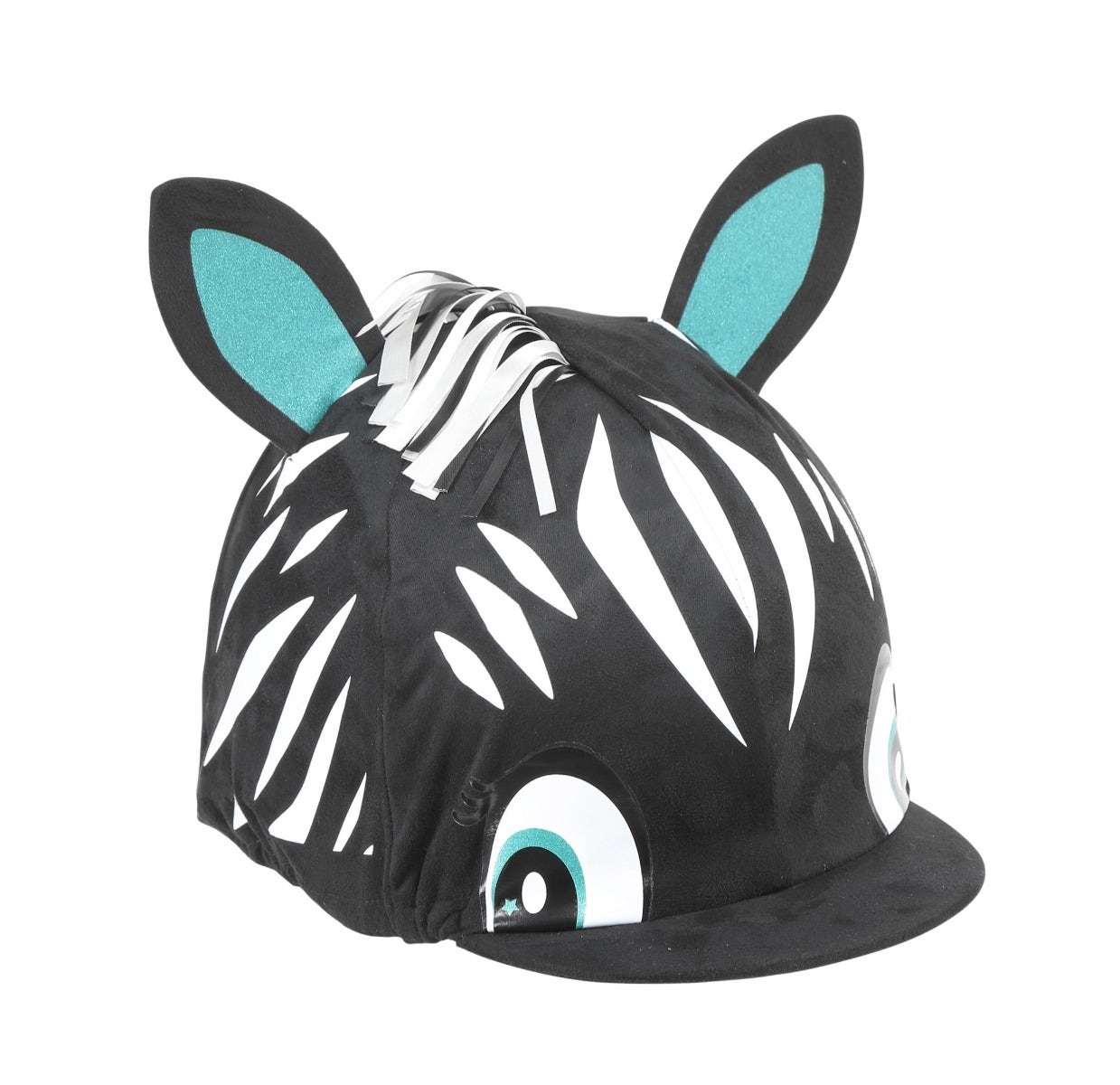 Shires Zebra Hat Silk Cover