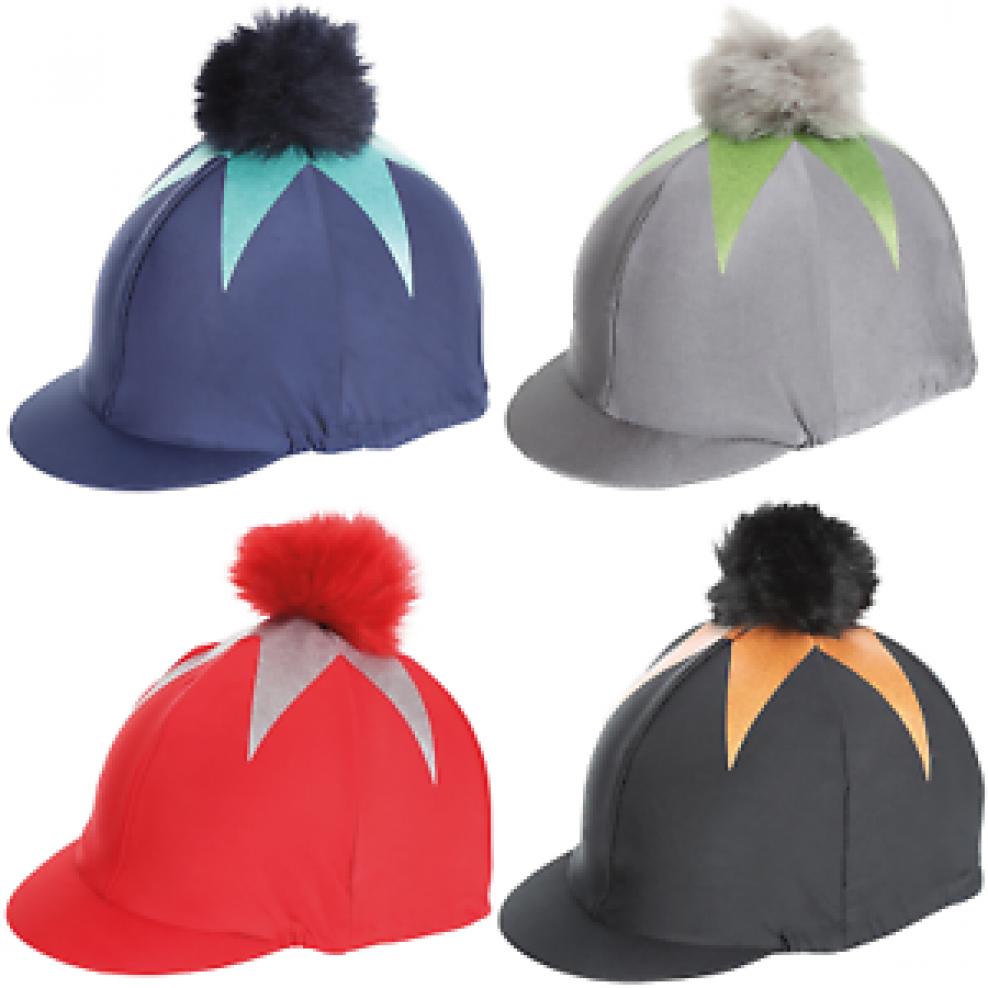 Shires Pom Pom Big Star Hat Cover Silk