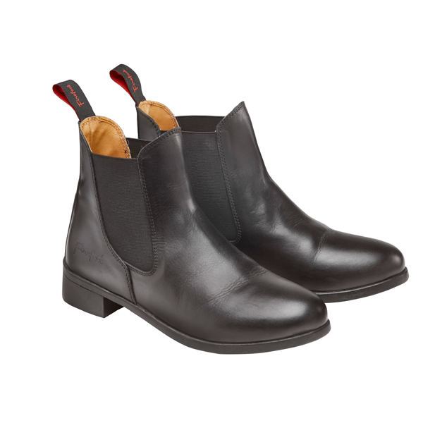 Firefoot Black Leather Pull On Riding Boots