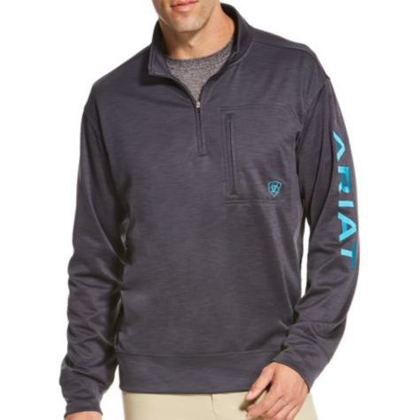 Ariat Mens Team Logo 1/4 Zip Fleece