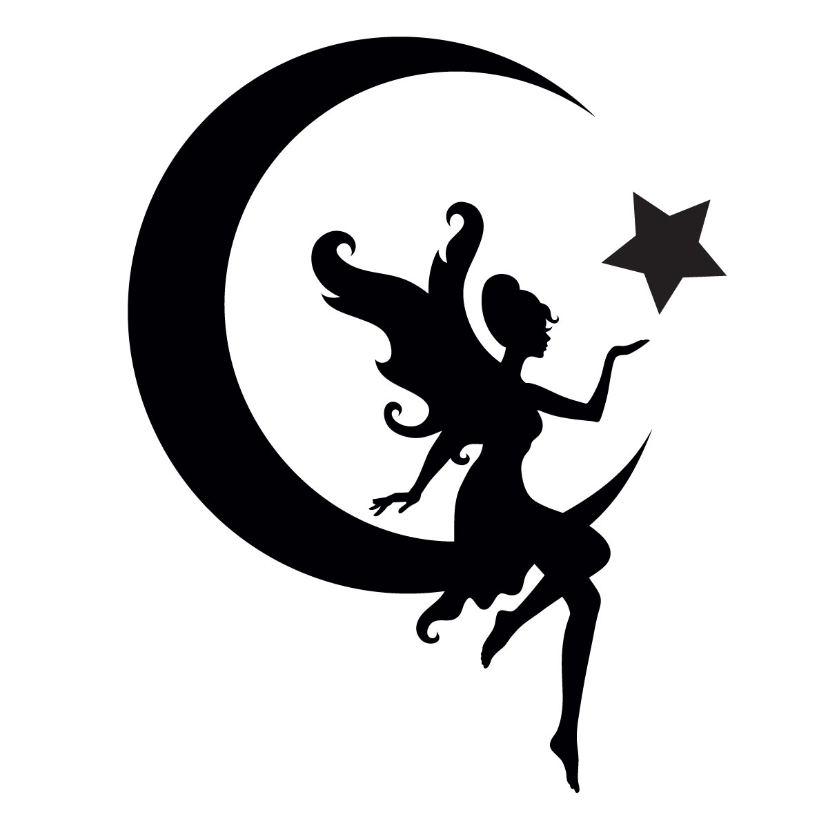 Glamourati Fairy on the Moon Stencil