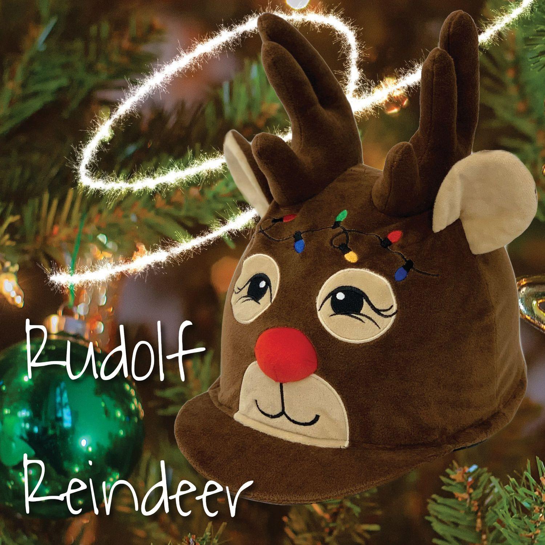 Equetech Rudolf Reindeer Hat Silk