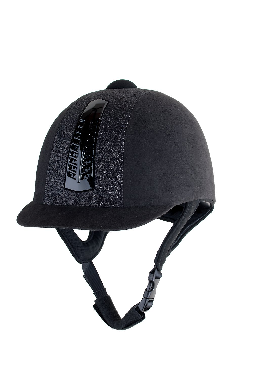 Rhinegold Black Glitter Pro Riding Hat