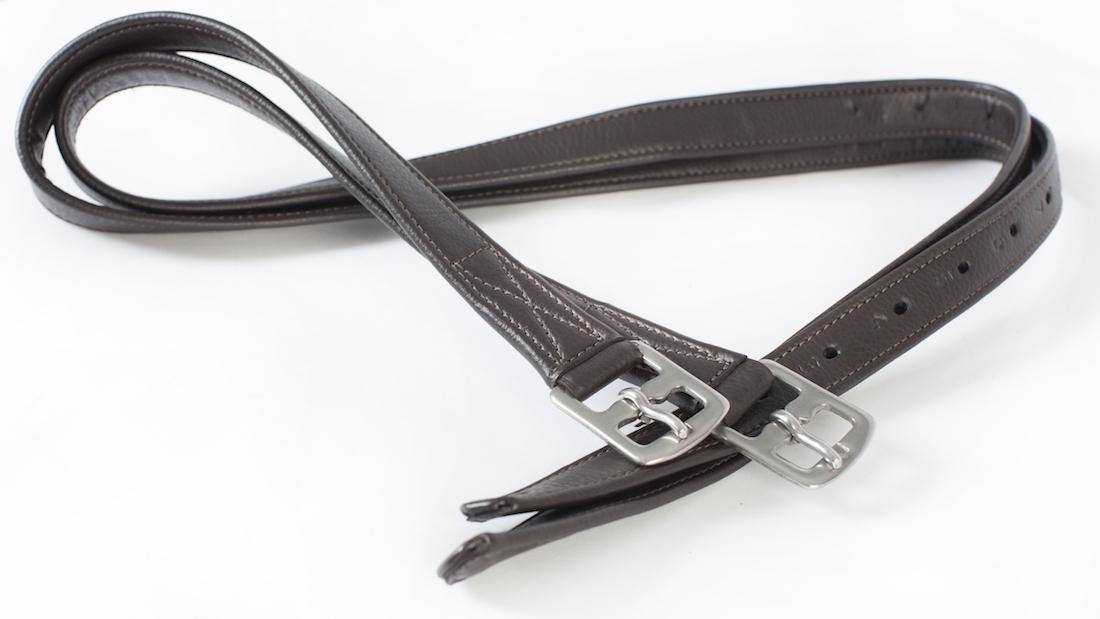 Cameo Anti Stretch Stirrup Leathers Black / Brown