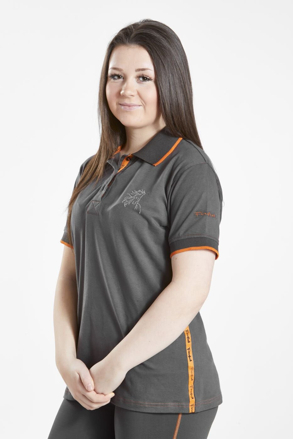Firefoot Childs Crofton Sparkle Logo Polo Top