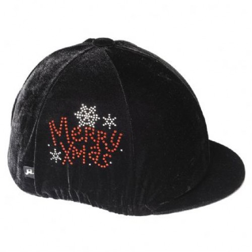 Carrots Velvet Sparkly Xmas Riding Hat Cover