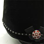 Karoo Equine Ruby Centre Swarovski Diamante Elastic Hat Band
