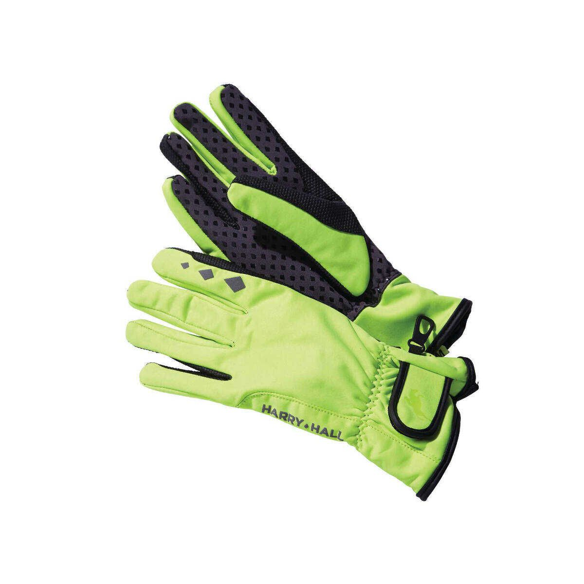 Harry Hall HiViz Thinsulate Softshell Riding Gloves