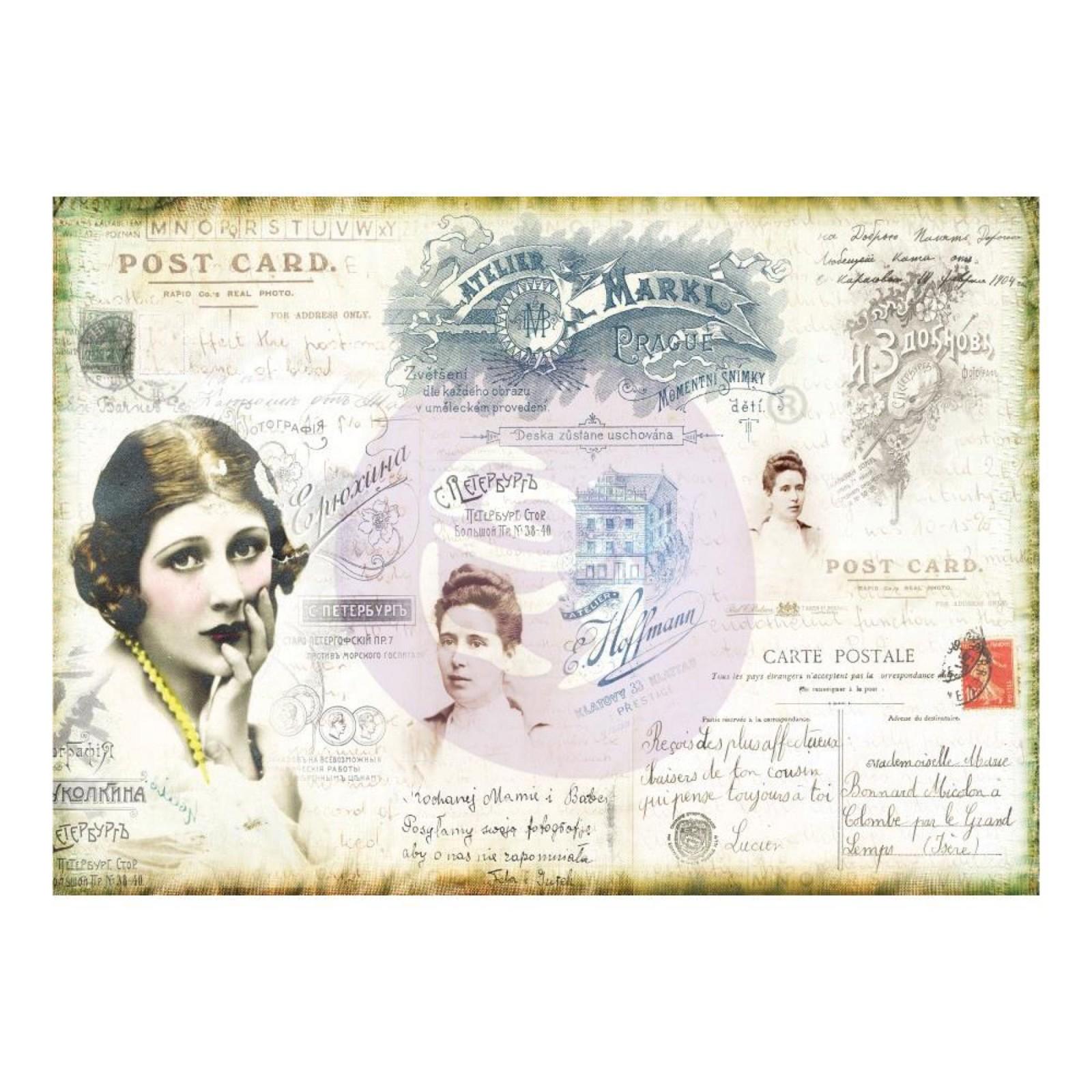Decoration Carte Postale.Finnabair Decorative Tissue Paper Carte Postale Dairy Hill Vintage Shop