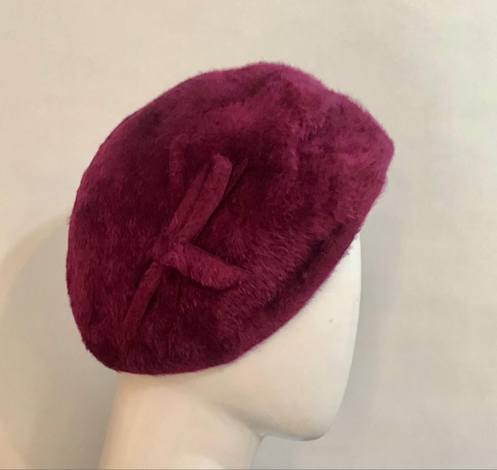6f1fb142a8 Raspberry beret - Milliners  Guild