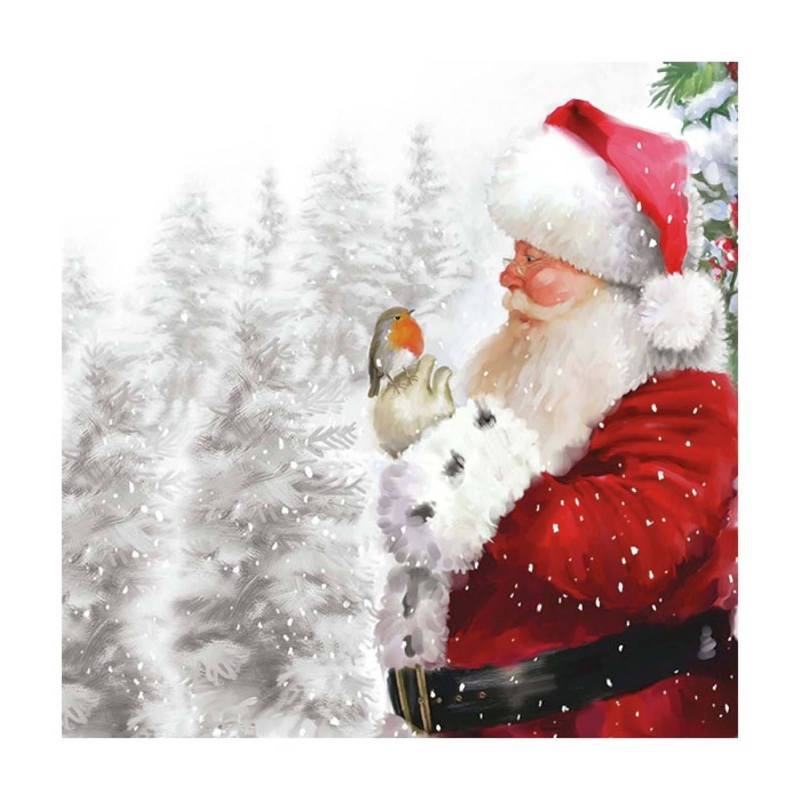 Ambiente Napkins Christmas Robin