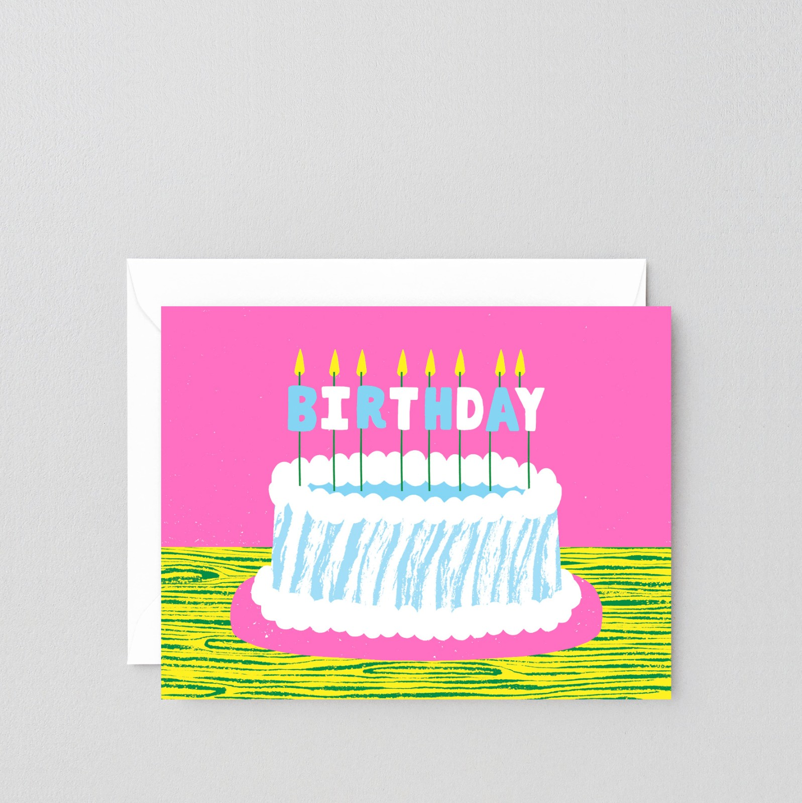 Swell Birthday Cake With Candles Card Hey Ho Print Co Store Funny Birthday Cards Online Fluifree Goldxyz