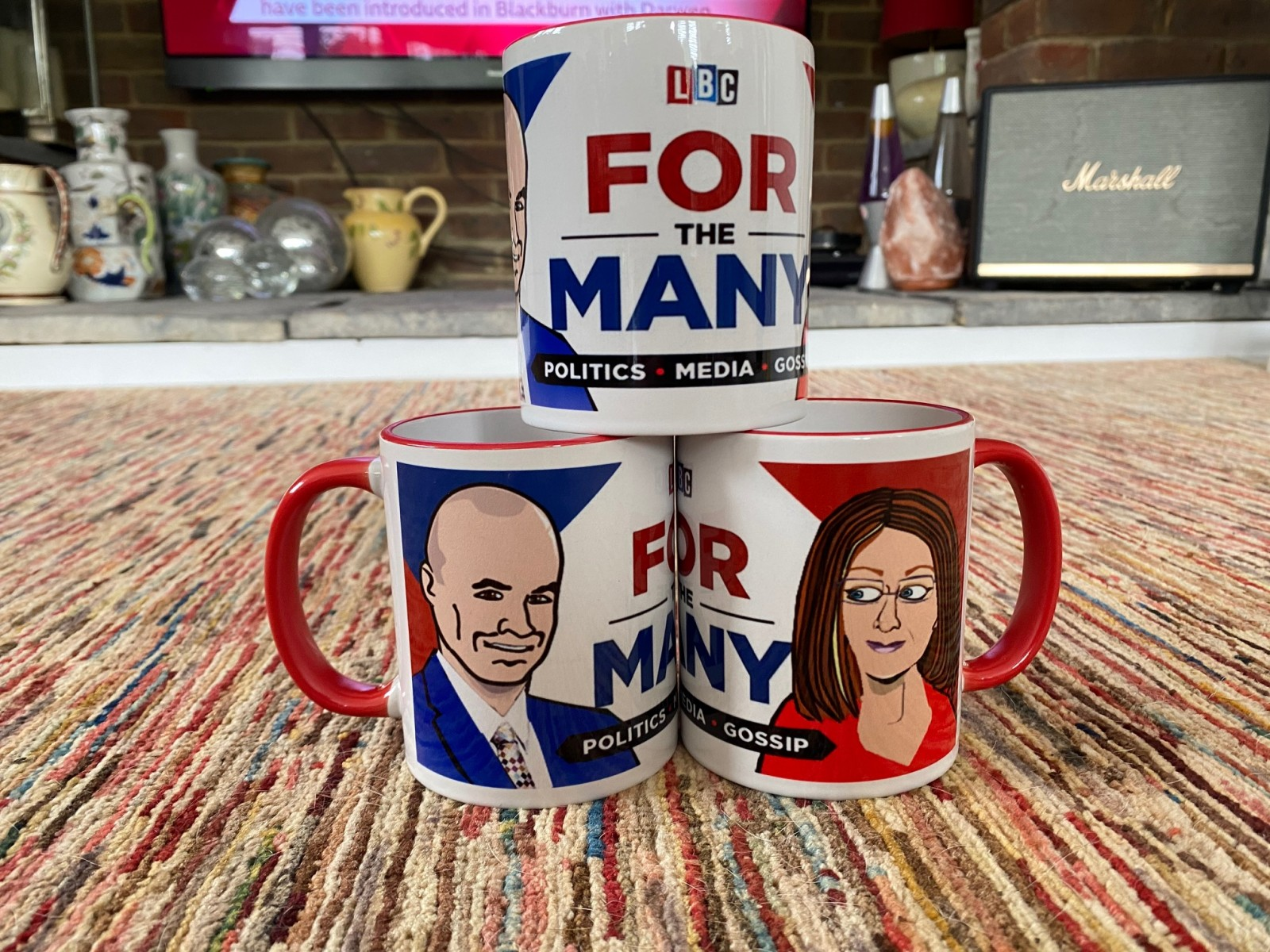 Jacqui Smith Red Trim For The Many Cartoon Mug By Ukpolitoons Red Handle Rim Iain Dale Limited
