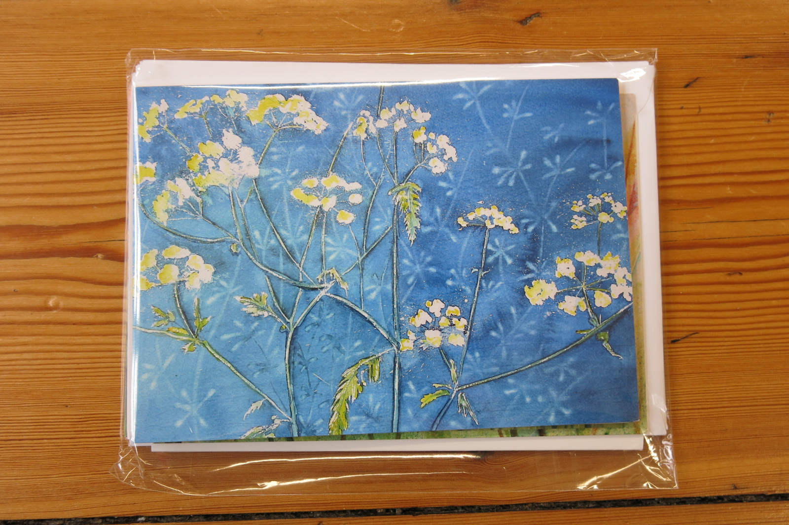 FLOWER WATERCOLOUR CARD PACK - 5 CARDS
