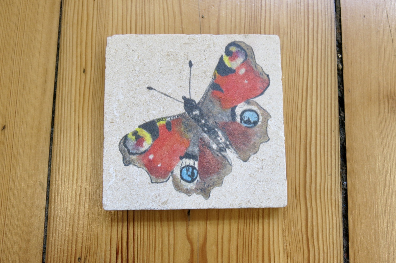 TILE BUTTERFLY COASTERS