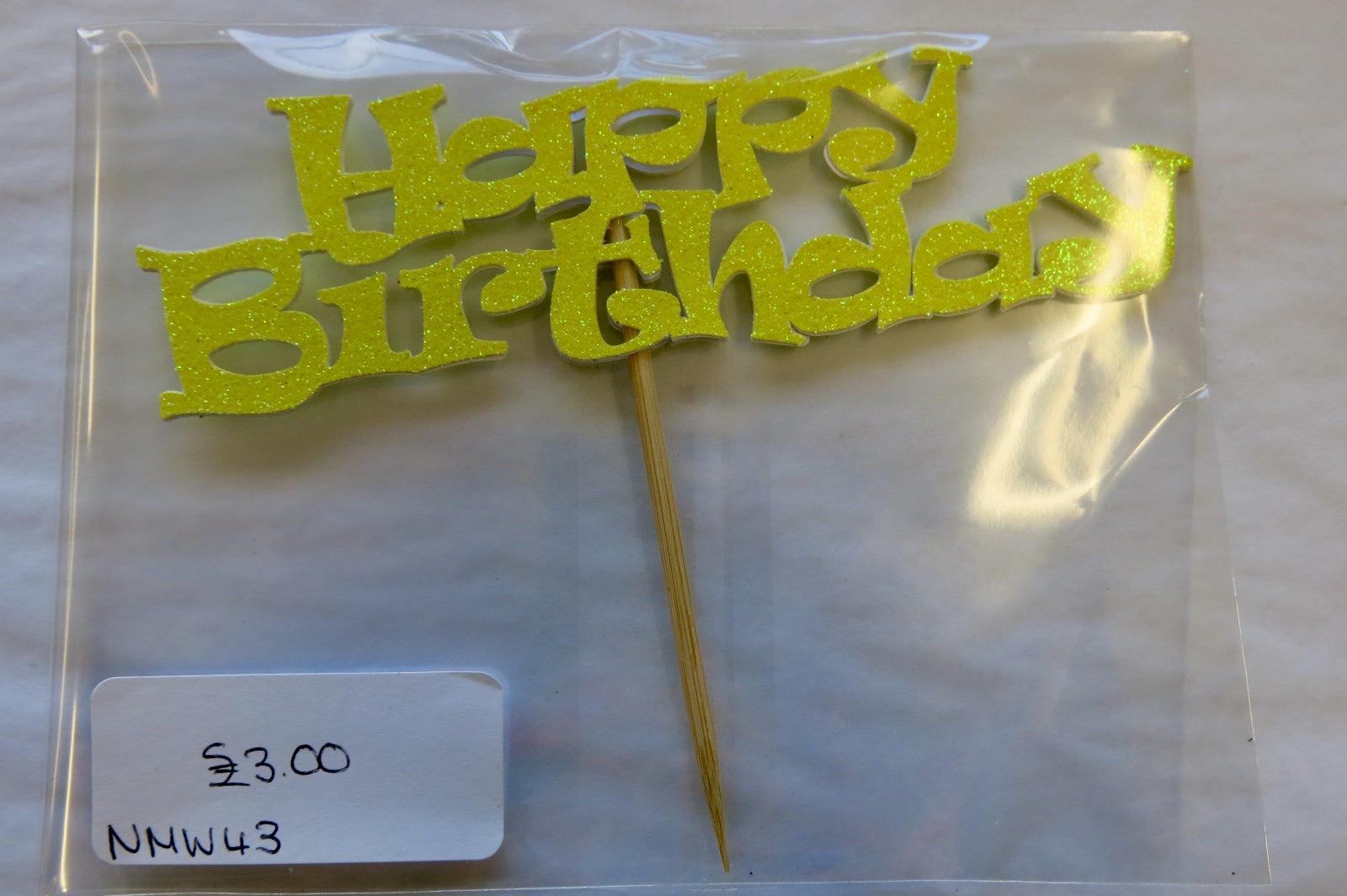HAPPY BIRTHDAY REUSABLE CAKE TOPPER