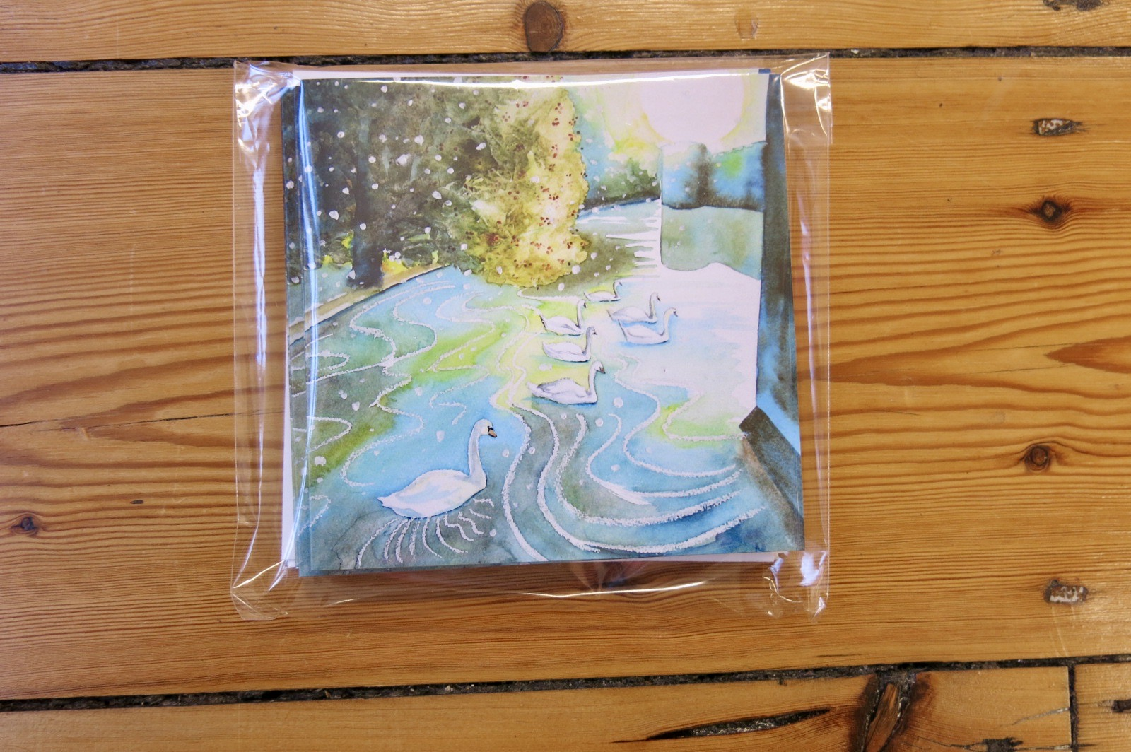 'SEVEN SWANS A SWIMMING' CARD PACK