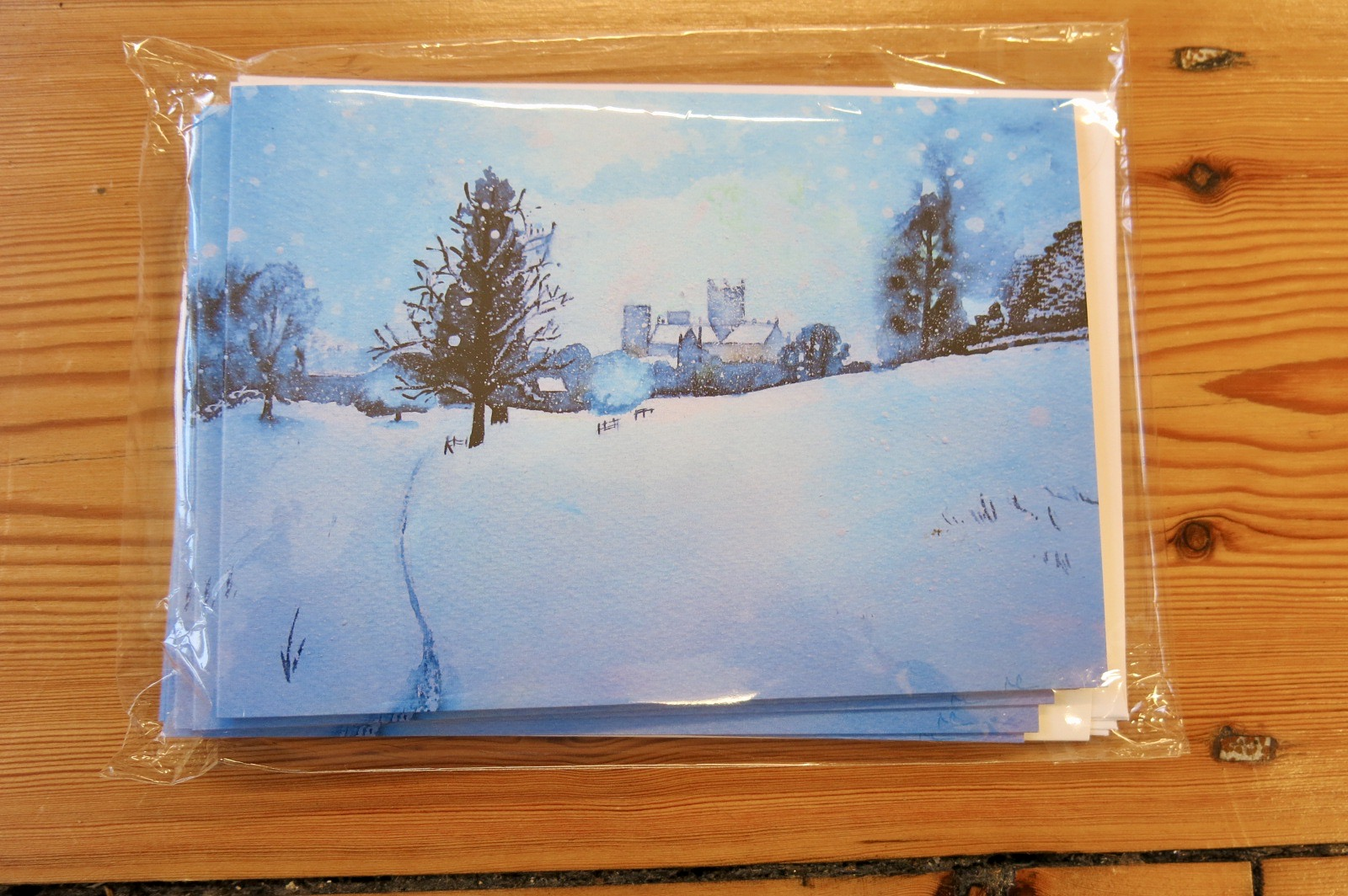 SNOWY DAY IN WELLS CARD PACK