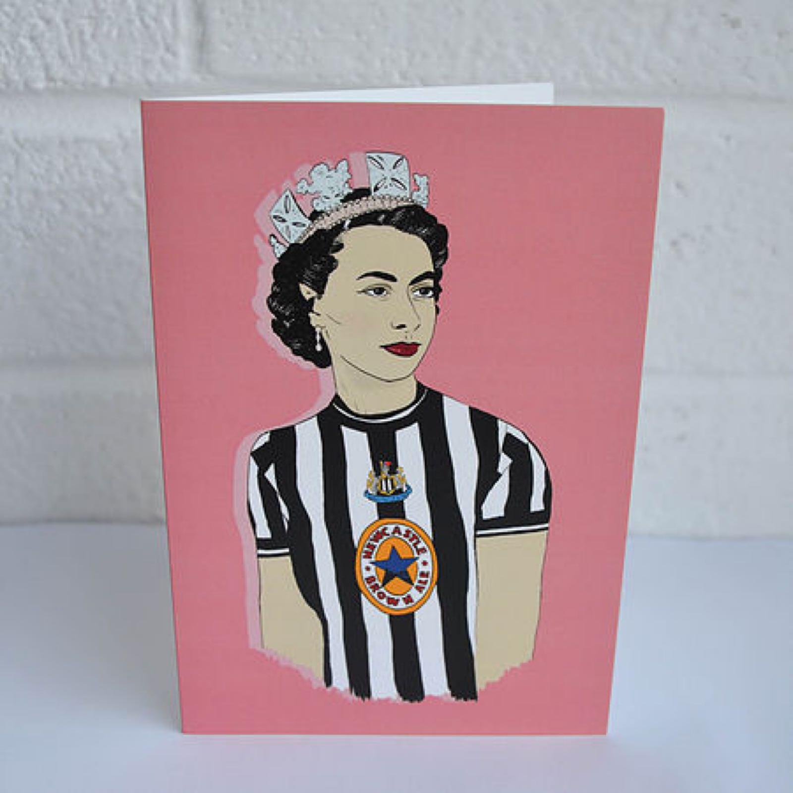 Geordie Queen Card